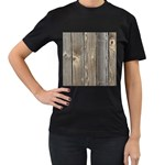WOOD FENCE Women s T-Shirt (Black) Front