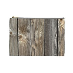 Wood Fence Cosmetic Bag (large)  by trendistuff