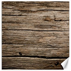 Weathered Wood Canvas 12  X 12   by trendistuff