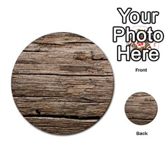 Weathered Wood Multi Purpose Cards (round)  by trendistuff