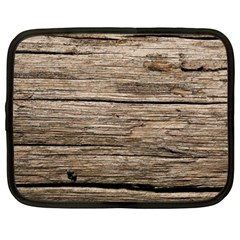 Weathered Wood Netbook Case (large) by trendistuff