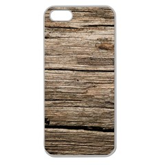 Weathered Wood Apple Seamless Iphone 5 Case (clear) by trendistuff