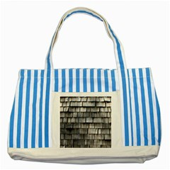 Weathered Shingle Striped Blue Tote Bag  by trendistuff