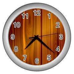 Shiny Striated Panel Wall Clocks (silver)  by trendistuff