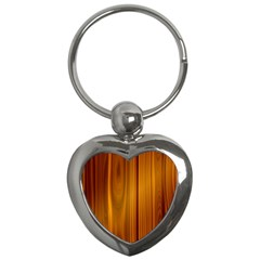 Shiny Striated Panel Key Chains (heart)  by trendistuff