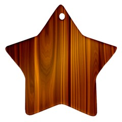 Shiny Striated Panel Star Ornament (two Sides)  by trendistuff