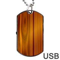 Shiny Striated Panel Dog Tag Usb Flash (two Sides)  by trendistuff