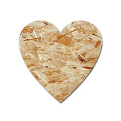 Osb Plywood Heart Magnet by trendistuff