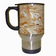 Osb Plywood Travel Mugs (white) by trendistuff
