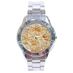 Osb Plywood Stainless Steel Men s Watch by trendistuff