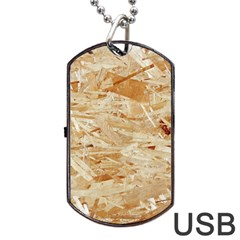 Osb Plywood Dog Tag Usb Flash (two Sides)  by trendistuff