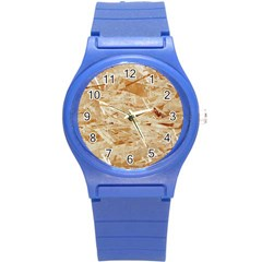 Osb Plywood Round Plastic Sport Watch (s) by trendistuff