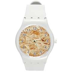 Osb Plywood Round Plastic Sport Watch (m) by trendistuff