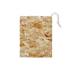 Osb Plywood Drawstring Pouches (small)  by trendistuff