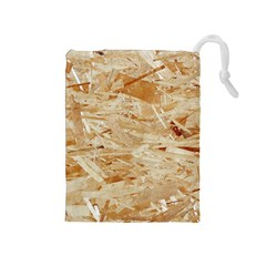 Osb Plywood Drawstring Pouches (medium)  by trendistuff
