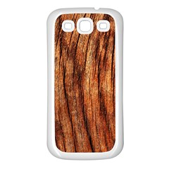 Old Brown Weathered Wood Samsung Galaxy S3 Back Case (white) by trendistuff