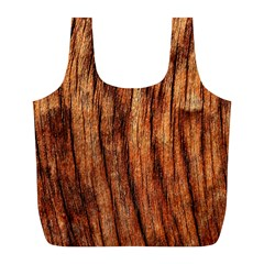 Old Brown Weathered Wood Full Print Recycle Bags (l)  by trendistuff