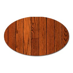 Oak Planks Oval Magnet by trendistuff
