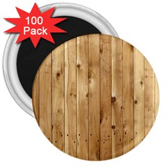 Light Wood Fence 3  Magnets (100 Pack) by trendistuff