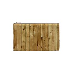 Light Wood Fence Cosmetic Bag (small)  by trendistuff