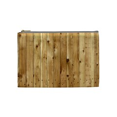 Light Wood Fence Cosmetic Bag (medium)  by trendistuff