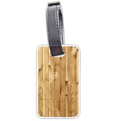 Light Wood Fence Luggage Tags (one Side)  by trendistuff