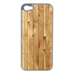 Light Wood Fence Apple Iphone 5 Case (silver) by trendistuff