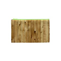 Light Wood Fence Cosmetic Bag (xs) by trendistuff