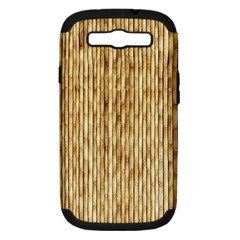 Light Beige Bamboo Samsung Galaxy S Iii Hardshell Case (pc+silicone) by trendistuff