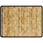 LIGHT BEIGE BAMBOO Double Sided Fleece Blanket (Large)  80 x60 Blanket Front