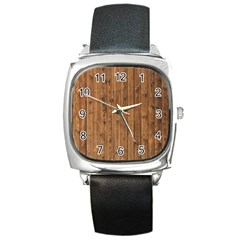 Knotty Wood Square Metal Watches by trendistuff