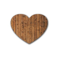 Knotty Wood Rubber Coaster (heart)  by trendistuff