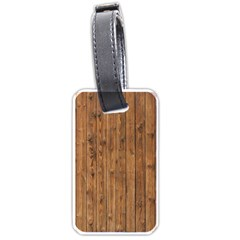 Knotty Wood Luggage Tags (one Side)  by trendistuff
