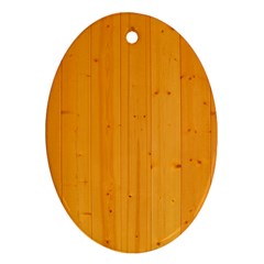 Honey Maple Ornament (oval)