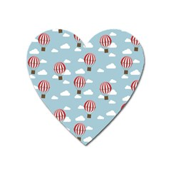 Hot Air Balloon Heart Magnet by Kathrinlegg