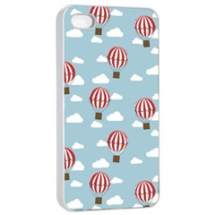 Hot Air Balloon Apple Iphone 4/4s Seamless Case (white) by Kathrinlegg