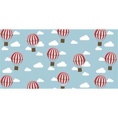 Hot Air Balloon You Are Invited 3d Greeting Card (8x4)  by Kathrinlegg