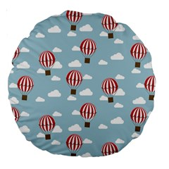 Hot Air Balloon Large 18  Premium Round Cushions by Kathrinlegg