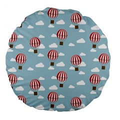 Hot Air Balloon Large 18  Premium Flano Round Cushions by Kathrinlegg