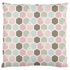 Spring Bee Large Flano Cushion Cases (two Sides)  by Kathrinlegg