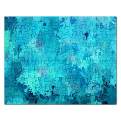 Splashes Of Color, Aqua Rectangular Jigsaw Puzzl by MoreColorsinLife