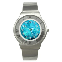 Splashes Of Color, Aqua Stainless Steel Watches by MoreColorsinLife