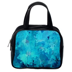Splashes Of Color, Aqua Classic Handbags (one Side) by MoreColorsinLife