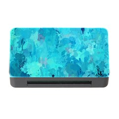 Splashes Of Color, Aqua Memory Card Reader With Cf by MoreColorsinLife