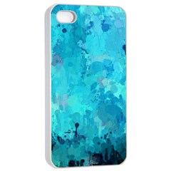 Splashes Of Color, Aqua Apple Iphone 4/4s Seamless Case (white) by MoreColorsinLife