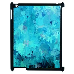 Splashes Of Color, Aqua Apple Ipad 2 Case (black) by MoreColorsinLife