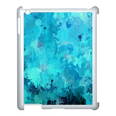 Splashes Of Color, Aqua Apple Ipad 3/4 Case (white) by MoreColorsinLife