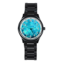 Splashes Of Color, Aqua Stainless Steel Round Watches by MoreColorsinLife