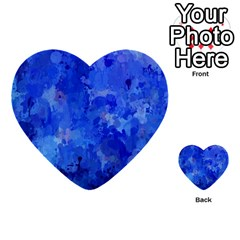 Splashes Of Color, Blue Multi Purpose Cards (heart)  by MoreColorsinLife