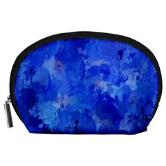 Splashes Of Color, Blue Accessory Pouches (large)  by MoreColorsinLife